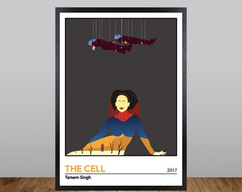 The Cell Print, Minimalist Movie Poster, Tarsem Singh Unofficial Fan Art