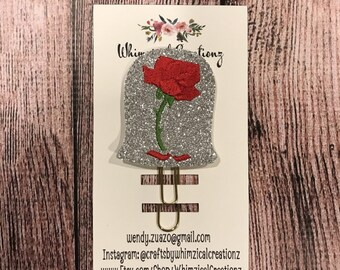 Enchanted Rose Planner Clip