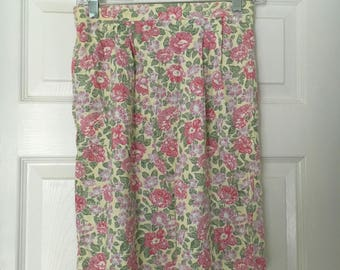 Vintage Floral Laura Ashley Mini Skirt - Original Tags Still Attached!