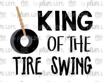 King of the Tire Swing - Playground SVG - SVG Cutting File for Cutting Machines - SVG, Eps, Png, & Jpg