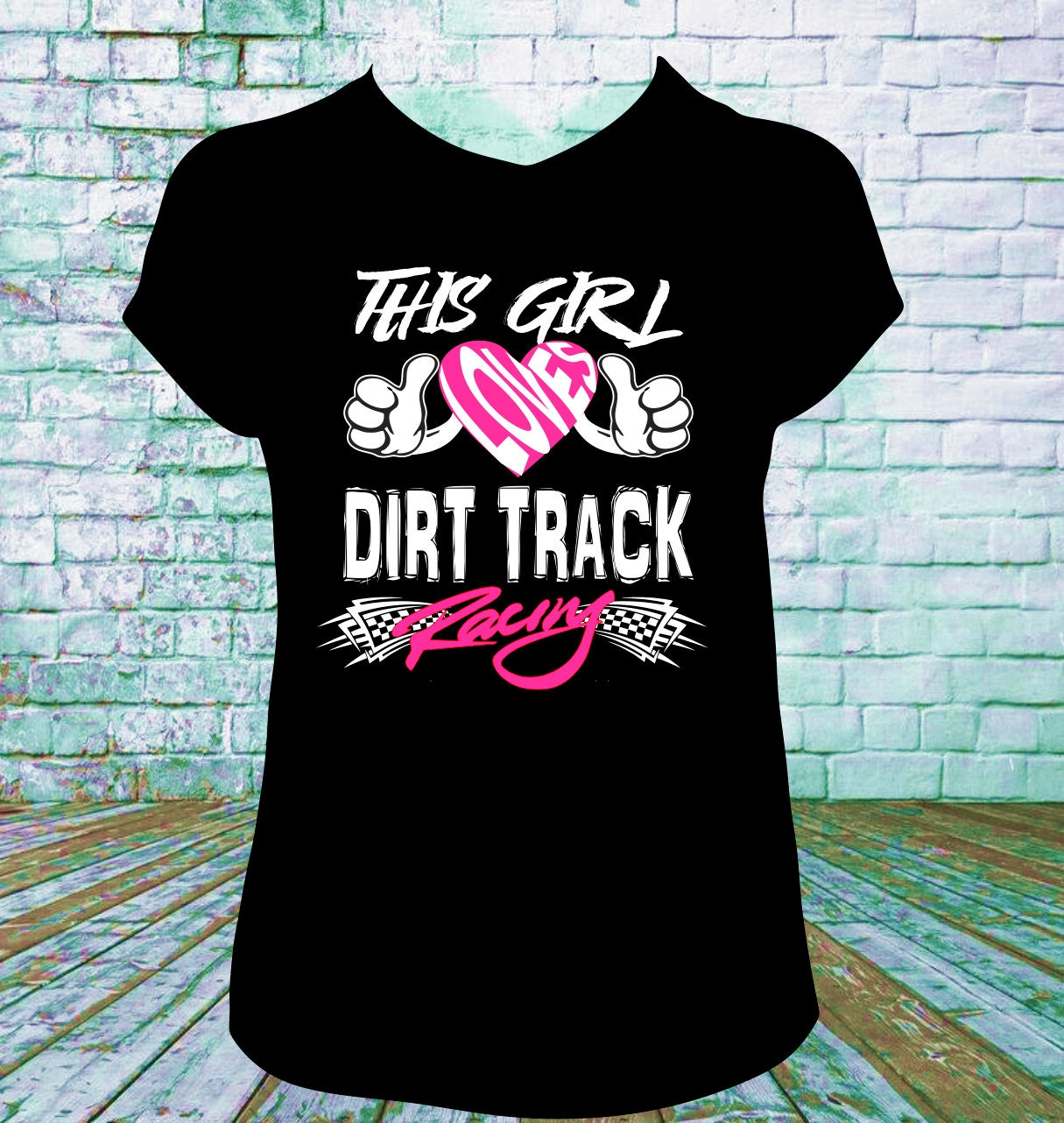 This Girl Loves Dirt Track Racing T Shirt Late Model Sprint