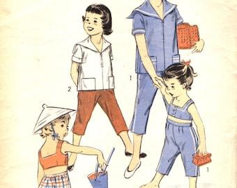 Advance 7134 NAUTICAL MIDDY Top Pants Child's Size 4 VINTAGE 1950s 1960s
