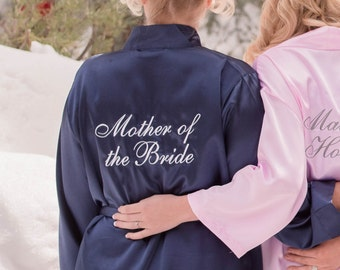 Mother of the Bride Robe, Mother of the bride satin robe gift, Satin bridal party robe, Mother of the bride gift idea, MOB satin robe gift