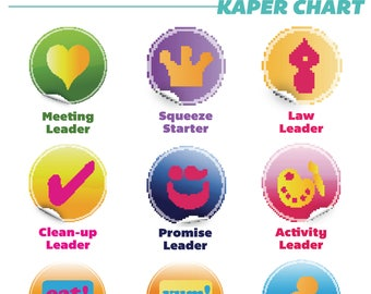 Girl Scouts Custom Kaper Chart with logo iamstrawjenberry