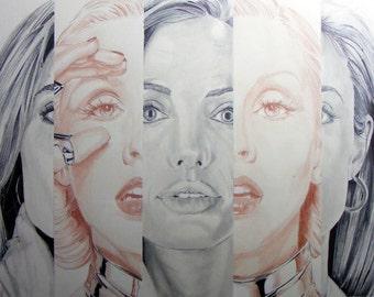 "Drawing original ""Angelina Aguilera"""