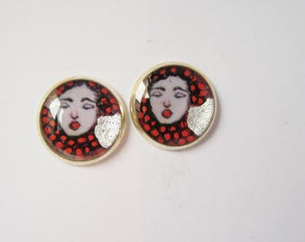 Ladies Mazel chip earrings