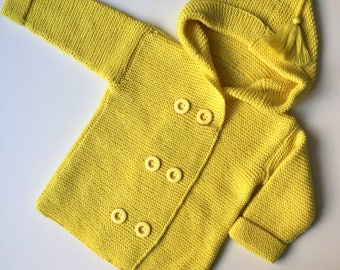 Knitted Toddler Baby Girls Cardigan/Hoodie/Jacket/Sweater, size 92-98 cm, 3 years