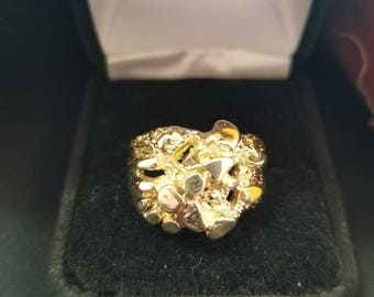 10k Moon Nugget Ring