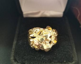 10k Moon Nugget Ring