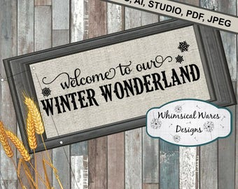 Winter wonderland, Christmas digital download studio file, svg, eps, ai, dxf, pdf files all included