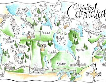 Custom Map/ Custom Invitation/ Wedding Map