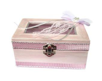 Gift box HolzTruhe to the wedding, money gift packaging, wedding memory box keepsake