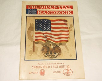Vintage 1968 Presidental Handbook • Steinbetz Realty & East Valley Ins.
