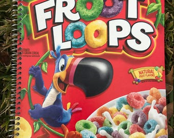 Cereal Box Journal - Froot Loops
