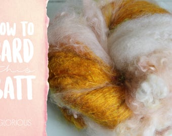 How to Card GLORIOUS Art Batt on a Drum Carder - One Technique from Carding Moods Masterclass