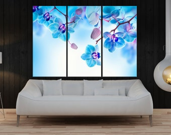 orchid wall art print, flower canvas art, flower wall print, fine art print, large wall art home wall decor, flower canvas art 8a02
