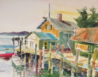 Lobster Dock, Maine