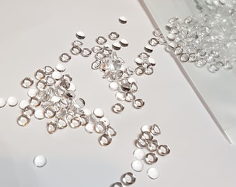 4mm clear dew drops for cardmaking and scrapbooking
