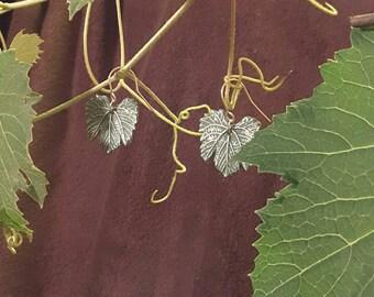 Grape Leaf Earrings