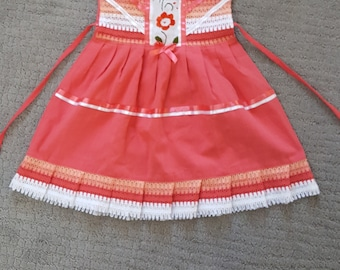 Mexican dress, girl's dress, embroidered mexican dress, size 3, free shipping.