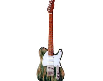 Miniature Guitar Replica: Francis Rossi - Distressed Green Telecaster