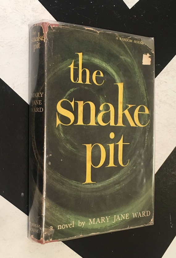 The Snake Pit by Mary Jane Ward vintage green classic psychology fiction novel book (Hardcover, 1946)