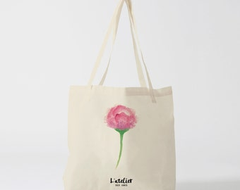X140Y Tote bag flower, bag canvas, gift for women, purse, diaper bag, bag races, sports bag, current bag, shopping bag