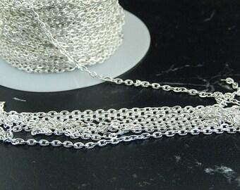 silver metal mesh chain 1 meter
