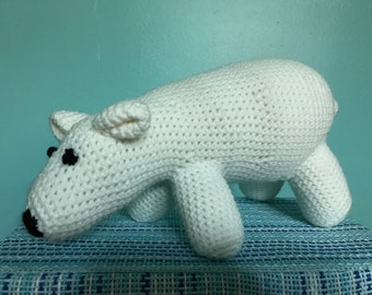 Paulie the Polar Bear Crocheted Toy