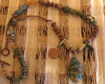 Mayan Mask Necklace  #321