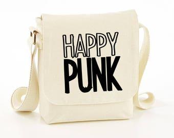 Happy punk messenger bag - messenger bag - funny messenger bag - funny bag - funny bags - funny shoulder bag - funny bags - gift ideas