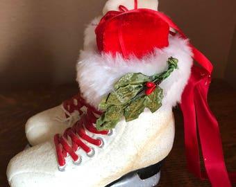 Ice Skates Ornament, Door Hanger, Frosty