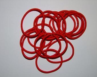 Elastic Hair Ties - Red - Pack of 10