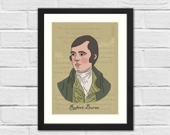 Ltd Ed - Robert Burns - Art Print - Scotland - Poetry - Burns Night
