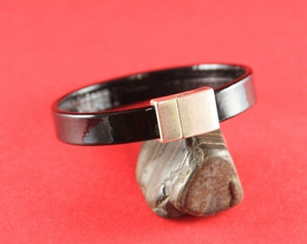 11/6 MADE IN EUROPE magnetic clasp, flat leather cord clasp, 10mm cord clasp, 10mm cord magnetic clasp (78925/10) Qty1