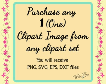Just One Piece Please - Choose just one piece from any clip art set - Special Order