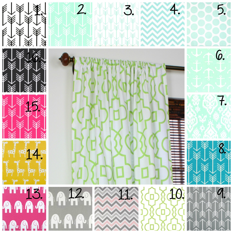 Kinderzimmer Vorhänge Mint Vorhang Panels Mint Vorhänge Pfeil