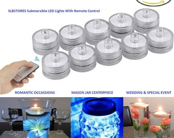 RMT 10 WHITE Submersible Tea Light with Remote For Event Centerpiece Decor