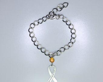 Diversity Ribbon Bracelet - Celebrate Diversity - Awareness Ribbon Jewelry