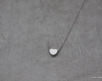 Kleines Herz Silber Halskette - Silber Herz - kleines Herzhalskette