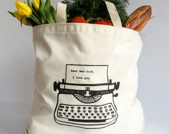 Dear New York, I love you. Tote Bag- Recycled Cotton