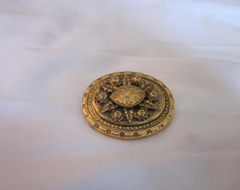 Vintage Gold Tone Freirich Pin Signed