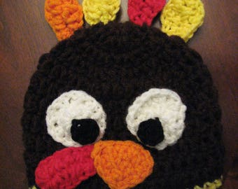 Crochet Baby Turkey Hat 3 mon