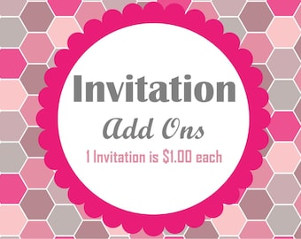 Individual Invitation Add-Ons