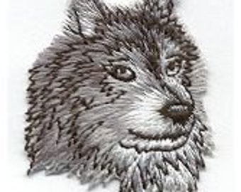 Timber Wolf Iron On Patch Wildlife Wolf Patch Iron on Patches