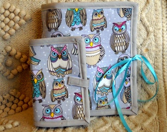 Owl Party Sewing Caddy, Needle Book, Hand Sewing Organizers