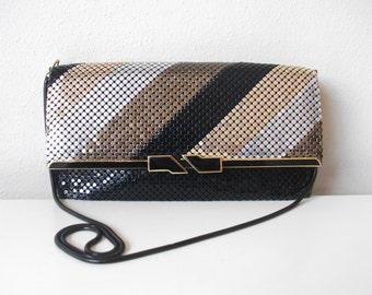 Metallic 80's Chainmail Evening Bag