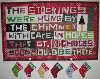 Sugar Plum Dreams Christmas Wall Hanging Pattern - PDF Version