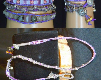 BT110 Gemstone beaded Triple Wrap Bracelet