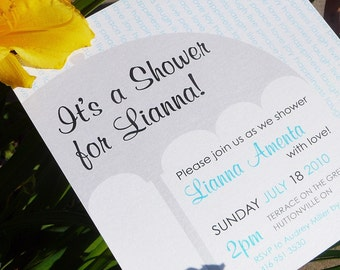 Shower her with Love! Umbrella Bridal or Baby Shower Invitations